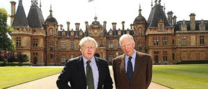 Former London Mayor and likely new PM Boris Johnson (left), shown with Jacob Rothschild.