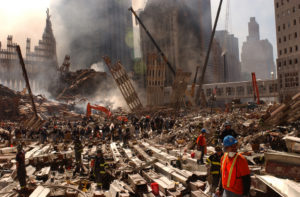 New York, NY, September 13, 2001 -- Clean up of the wreckage at the World Trade Center continues. Photo byAndrea Booher/ FEMA News Photo